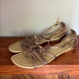 🌼Seychelles Muted Gold Gladiator Sandals